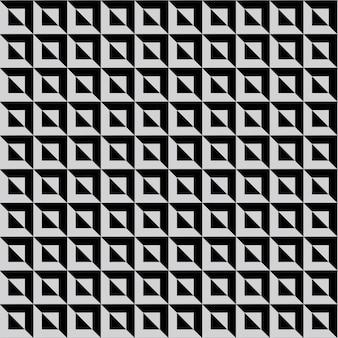 Fondo patrón diamante cuadrado blanco y negro