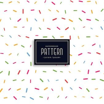 Fondo de patrón de estilo de confeti de memphis colorido