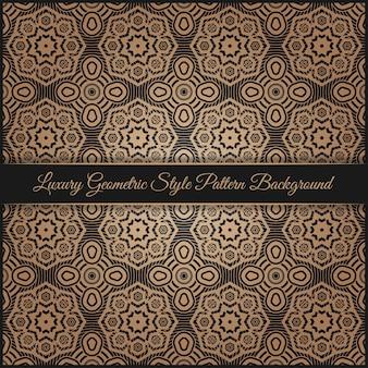Fondo de patrón de estilo geométrico de lujo
