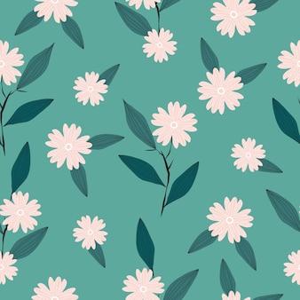 Fondo de patrón floral fresco lindo transparente