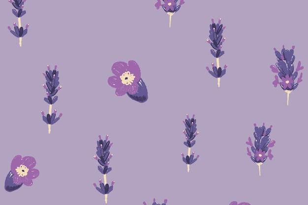 Fondo de patrón floral lavanda púrpura