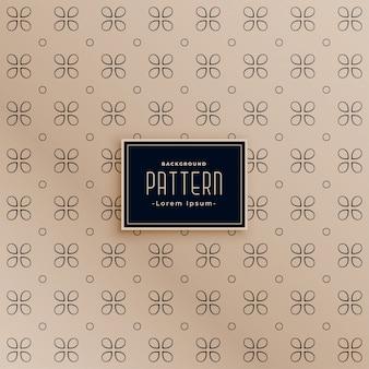 Fondo de patrón de forma de flor elegante estilo vintage