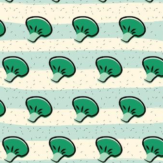 Fondo de patrón de fruta de brócoli