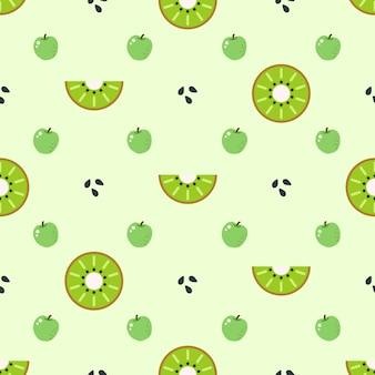 Fondo con patrón de fruta