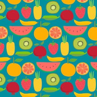 Fondo con el patrón de frutas.