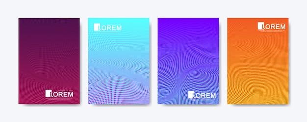 Fondo de patrón geométrico abstracto con puntos de semitono de líneas