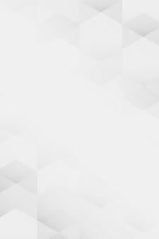 Fondo de patrón geométrico blanco y gris