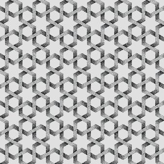 Fondo de patrón geométrico punteado abstracto.