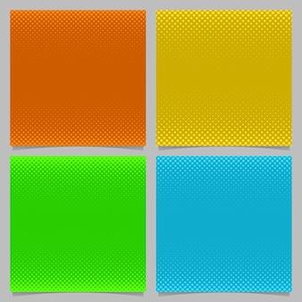 Fondo de patrón geométrico de semitono círculo - gráfico de papelería cuadrado vector de puntos en diferentes tamaños