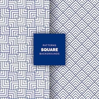 Fondo de patrón geométrico de vector transparente cuadrado abstracto azul