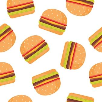 Fondo de patrón de hamburguesa