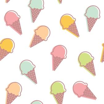 Fondo de patrón de helado