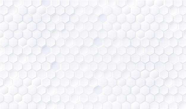 Fondo de patrón hexagonal blanco