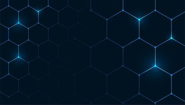 Fondo de patrón hexagonal en estilo médico