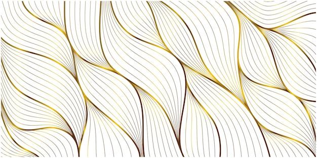 Fondo de patrón de hoja de adorno de oro