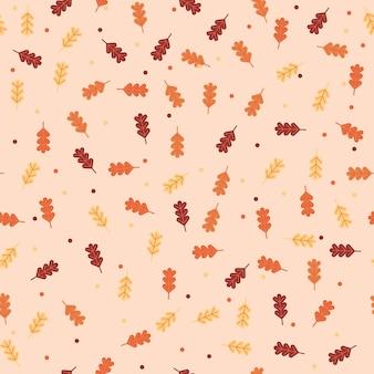 Fondo de patrón de hojas de otoño.