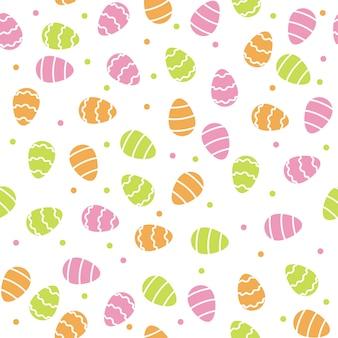 Fondo de patrón de huevos de pascua