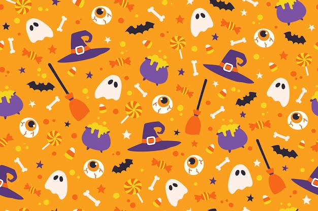Fondo de patrón lindo de halloween.