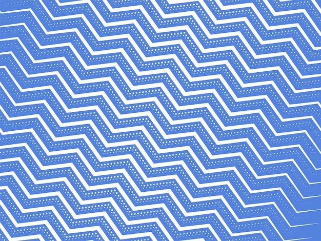 Fondo de patrón de líneas en zigzag azul y blanco.