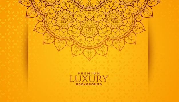 Fondo de patrón de mandala de estilo arabesco étnico