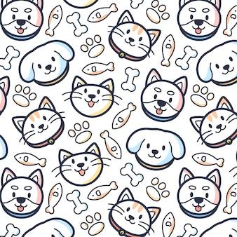 Fondo del patrón de mascotas