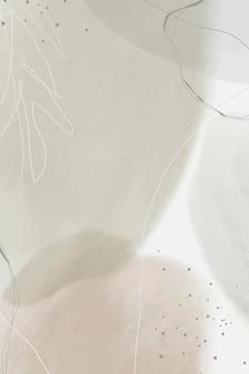 Fondo de patrón de memphis de tono tierra abstracta vector gratuito