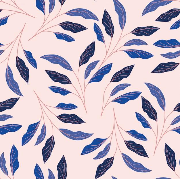 Fondo de patrón natural de hojas de colores