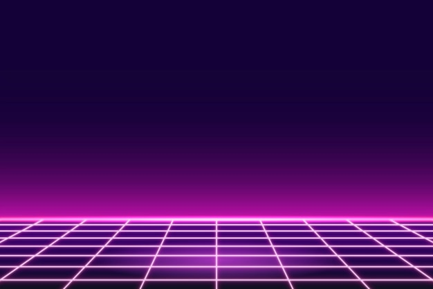Fondo de patrón de neón de cuadrícula rosa