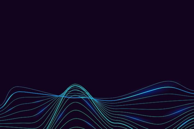 Fondo de patrón de onda sintética de neón verde