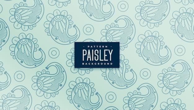 Fondo de patrón de paisley indio clásico vintage