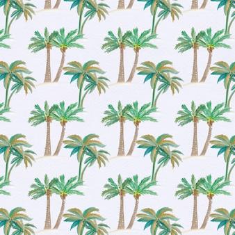Fondo con patrón de palmeras