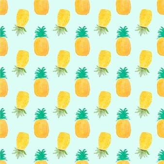 Fondo con patrón de piñas amarillas