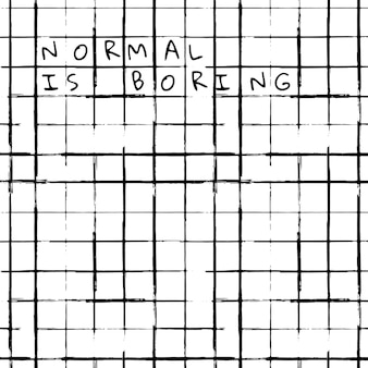 El fondo del patrón de pincel de tinta de vector de cuadrícula con texto normal es aburrido