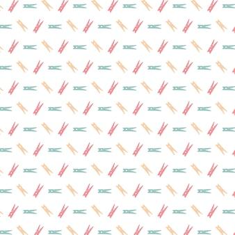Fondo con patrón de pinzas de la ropa multicolor