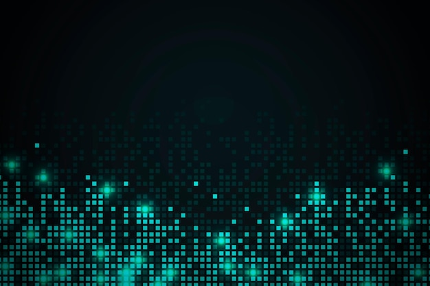 Fondo de patrón de píxeles abstractos verde azulado
