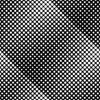 Fondo de patrón de punto abstracto blanco y negro sin costura
