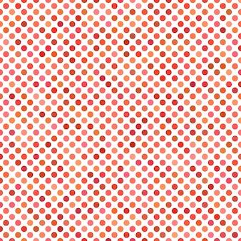 Fondo de patrón de puntos de color - gráfico de vector geométrico de círculos rojos