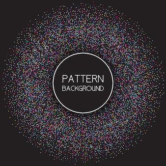 Fondo de patrón de puntos de colores