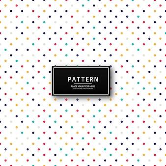 Fondo de patrón de puntos coloridos abstractos