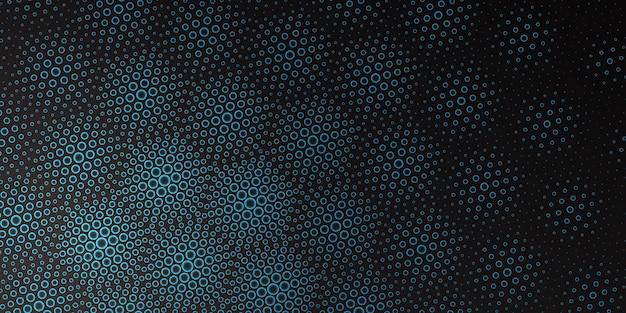 Fondo de patrón de puntos de semitono brillante estilo hexagonal