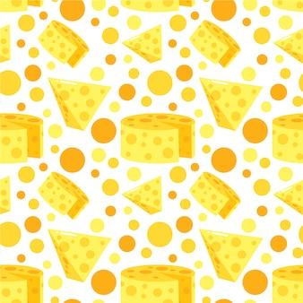 Fondo con patrón de queso