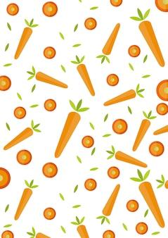 Fondo patrón rebanada zanahoria