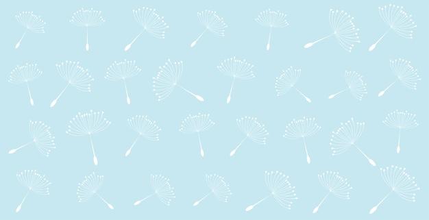 Fondo de patrón de semillas de diente de león volador