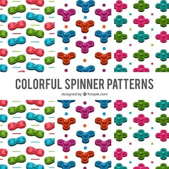 Fondo con patrón de spinner multicolor