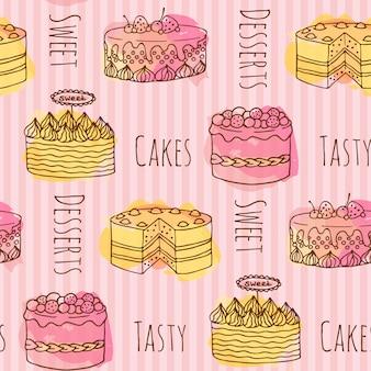 Fondo con patrón de tarta