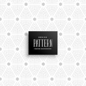 Fondo de patrón de triángulo de puntos sutil con estilo