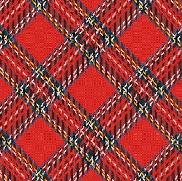 Fondo de patrón de vector de tela escocesa de tartán con textura de tela