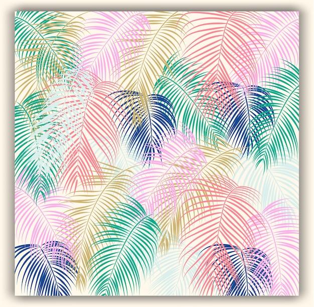 Fondo de patrón de vector transparente floral tropical.