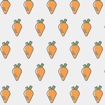 Fondo con patrón de zanahorias
