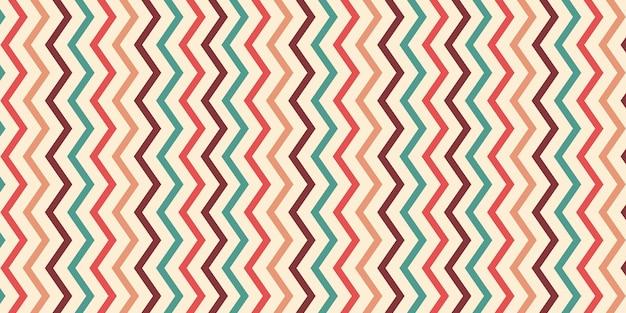 Fondo de patrón de zigzag creativo